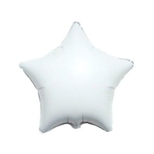 """Balão de Festa Metalizado 20"""" 50cm - Estrela Branco - 01 Unidade - Flexmetal - Rizzo Embalagens"""