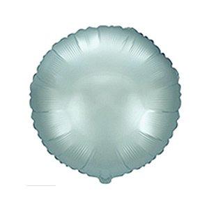 """Balão de Festa Metalizado 20"""" 50cm - Redondo Azul Pastel - 01 Unidade - Flexmetal - Rizzo Embalagens"""