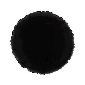 """Balão de Festa Metalizado 20"""" 50cm - Redondo Preto - 01 Unidade - Flexmetal - Rizzo Embalagens"""