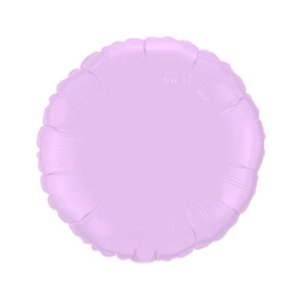 """Balão de Festa Metalizado 20"""" 50cm - Redondo Lilás Baby - 01 Unidade - Flexmetal - Rizzo Embalagens"""