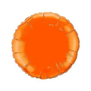 """Balão de Festa Metalizado 20"""" 50cm - Redondo Laranja - 01 Unidade - Flexmetal - Rizzo Embalagens"""