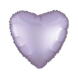"""Balão de Festa Metalizado 20"""" 50cm - Coração Lilás Pastel - 01 Unidade - Flexmetal - Rizzo Embalagens"""