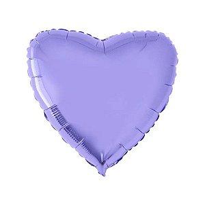 """Balão de Festa Metalizado 20"""" 50cm - Coração Lilás Metálico - 01 Unidade - Flexmetal - Rizzo Embalagens"""