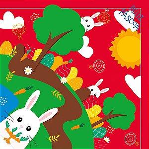 Saco Express 32x32cm para Ovos de 150g a 200g - Esconde Esconde Vermelho - 05 unidades - Cromus Páscoa - Rizzo Embalagen