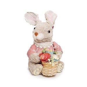 Coelha Sentada com Cesta - Pistache - 01 unidade - Cromus Páscoa - Rizzo Embalagens