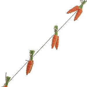 Cordão com 12 Cenouras de Juta - 1 metro - Cromus Páscoa - Rizzo Embalagens