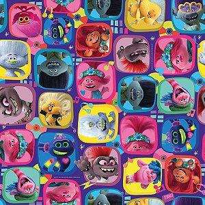 Folha para Ovos de Páscoa Trolls 69x89cm - 05 unidades - Páscoa Cromus - Rizzo Embalagens