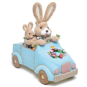 Coelhos no Carro Azul - Happy Sunday - 01 unidade - Cromus Páscoa - Rizzo Embalagens