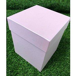Caixa Rígida G Rosa 16x16x20 - 01 unidade - Rizzo