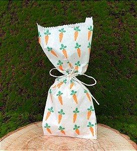 Saquinho de Papel Cenourinhas 10 un - Decora Doces - Rizzo Embalagens