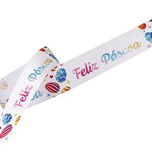 Fita de Páscoa em Cetim 22mmx10m Feliz Páscoa Tie Dye ECF005H 059 Progresso Rizzo Embalagens
