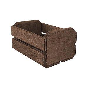 Caixote de Madeira Marrom 11,5x8,5x6,5cm - 01 Unidade - Rizzo