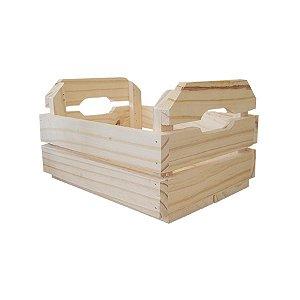 Caixote de Madeira Crú 24,5x19x13cm - 01 Unidade - Rizzo