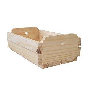 Caixote de Madeira Crú 24x15,5x7,5cm - 01 Unidade - Rizzo