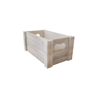 Caixote Madeira Claro Branco - 1 unidade - Cromus - Rizzo
