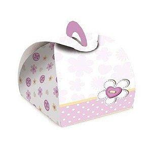 Caixa Bem Casado Delicada Rosa - 6,5x6,5x5,5cm - 24 unidades - Cromus Festas