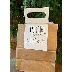 Alças para Saco Branca G 12,8x44,5 - 05 unidades - Rizzo Embalagens