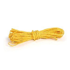 Fio Decorativo de Papel Torcido Amarelo - 5 metros -Cromus - Rizzo Embalagens