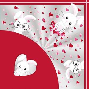 Saco Express 37,5x37,5cm para Ovos Coração de 250g a 350g - Amor de Coração - 05 unidades - Cromus Páscoa - Rizzo Emba