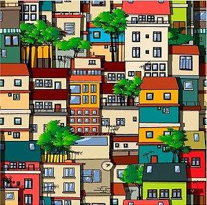 Saco Presente 30x44 - Casas Brasil - 50 unidades - Regina - Rizzo Embalagens