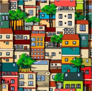 Saco Presente 45x60 - Casas Brasil - 25 unidades - Regina - Rizzo Embalagens