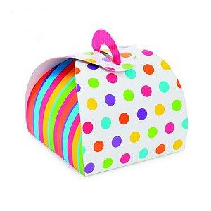 Caixa Bem Casado Colors - 6,5x6,5x5,5cm - 24 unidades - Cromus Festas