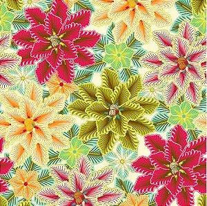 Saco Presente 15x22 - Flores Colors - 50 unidades - Regina - Rizzo Embalagens