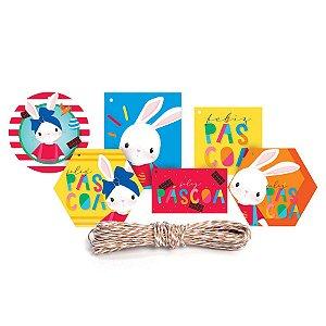 Kit Fechamento Para Presente Brilho de Páscoa - 13 Peças - Cromus Páscoa - Rizzo Embalagens