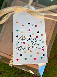 Tag Decorativa Feliz Páscoa Color - 05 unidades - Rizzo Embalagens