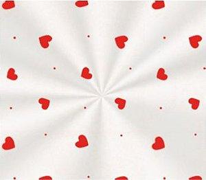Saco Transparente Decorado Love Vermelho - 10x14 - 100 unidades - Cromus - Rizzo Embalagens