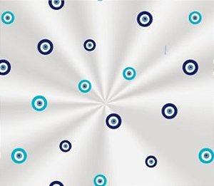 Saco Transparente Decorado Olho Grego - 11x19,5cm - 100 unidades - Cromus - Rizzo Embalagens