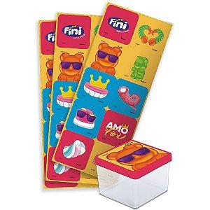 Adesivo Quadrado Festa Fini - 30 unidades - Festcolor - Rizzo Festas