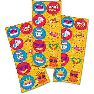 Adesivo Redondo Festa Fini - 30 unidades - Festcolor - Rizzo Festas