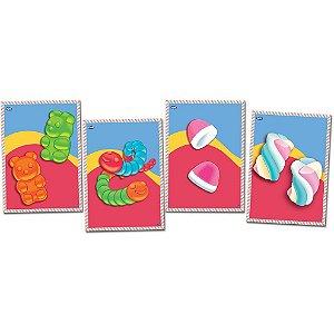 Quadros Decorativos Festa Fini - 04 unidades - Festcolor - Rizzo Festas