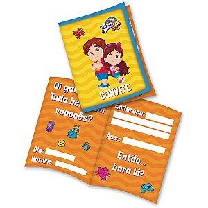 Convite Festa Maria Clara e JP - 08 unidades - Festcolor - Rizzo Festas