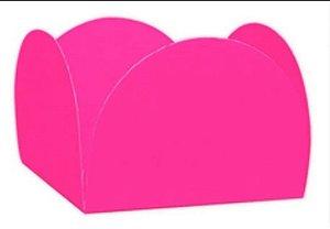Forminha para Doces 4 Pétalas Rosa Chiclete - Nc Toys - Rizzo Embalagens