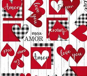 Saco Presente 60x90cm Meu Amor - 25 unidades - Cromus - Rizzo Embalagens