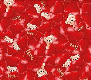 Saco Presente Amoroso 20x29 Amoroso - 50 unidades - Cromus - Rizzo Embalagens