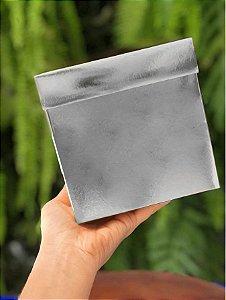Caixa Cubo para Presente Metalizada Prata 12x12x12cm - ASSK - Rizzo