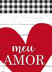 Saco Presente 25x37cm Amor Registrado - 50 unidades - Cromus - Rizzo Embalagens