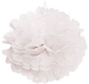 Pom Pom Branco - 30cm - 2 unidades - Cromus - Rizzo Festas
