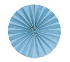 Leque Decorativo de Papel Azul 30cm - 02 unidades - Cromus - Rizzo Festas