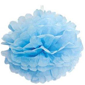 Pom Pom Azul - 30cm - 2 unidades - Cromus - Rizzo Festas