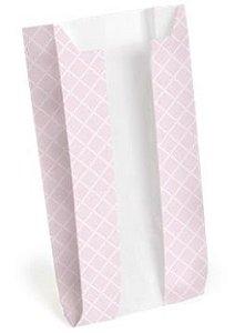 Saquinho de Papel com Visor 8x14cm - Rosa - 10 unidades - Cromus - Rizzo Embalagens
