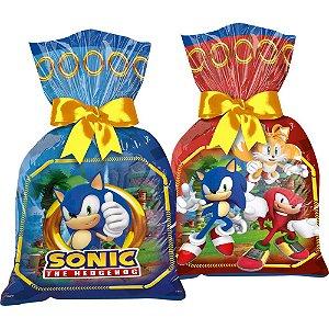 Sacolinha para Lembrancinha Festa Sonic - 12 unidades - Regina - Rizzo Embalagens