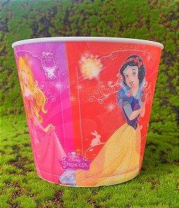 Balde Pipoca de Plástico 3D Festa Disney Princesas 1L - 1 Unidade - Regina - Rizzo Festas