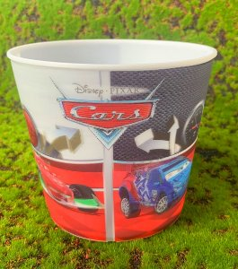 Balde Pipoca de Plástico 3D Festa Carros 1L - 1 Unidade - Regina - Rizzo Festas
