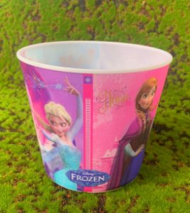 Balde Pipoca de Plástico 3D Festa Frozen 1L - 1 Unidade - Regina - Rizzo Festas