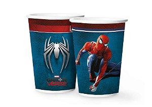 Copo de Papel Spider Man Gamer Verse - 12 unidades - Regina - Rizzo Embalagens