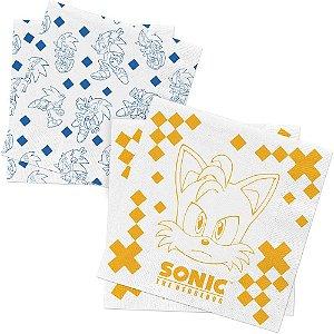 Guardanapo de Papel Festa Sonic - 50 unidades - Regina - Rizzo Embalagens